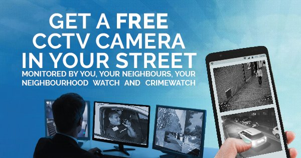 Get A free CCTV Camera in your street